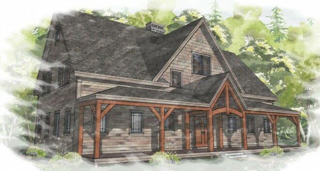 Bonin Architects_Farmhouse_Exterior Rendering