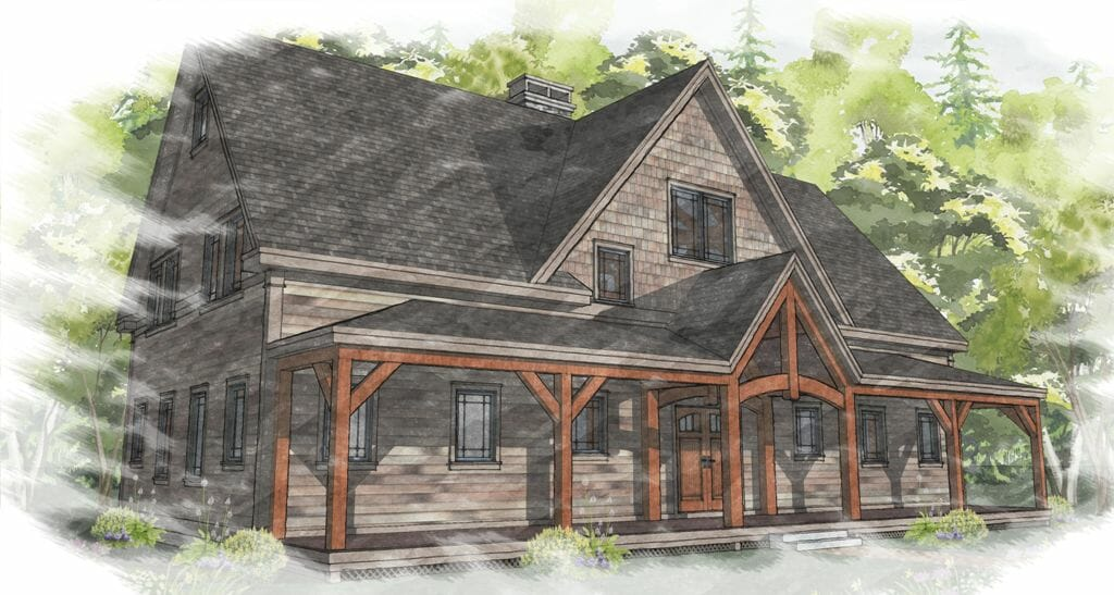 Timber frame farm house floor plan for Vermont farmhouse plans