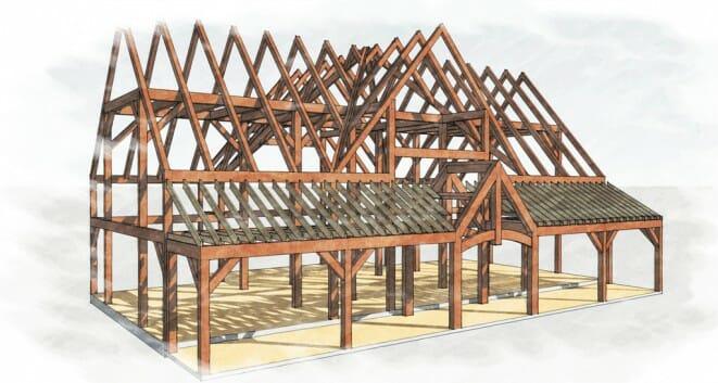 Bonin Architects_Farmhouse_Timber Frame