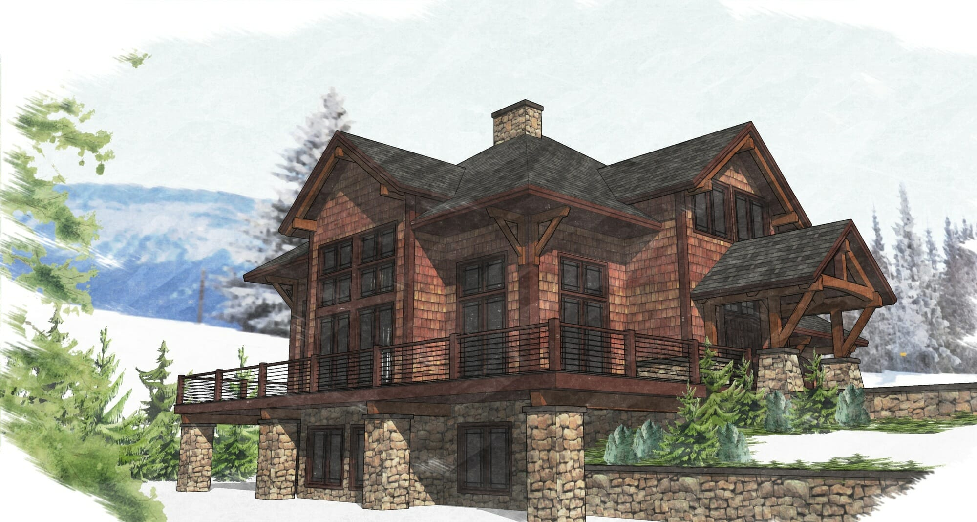 Timber frame home plans for Timber frame home plans