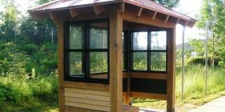 Timber Frame Bus Shelter