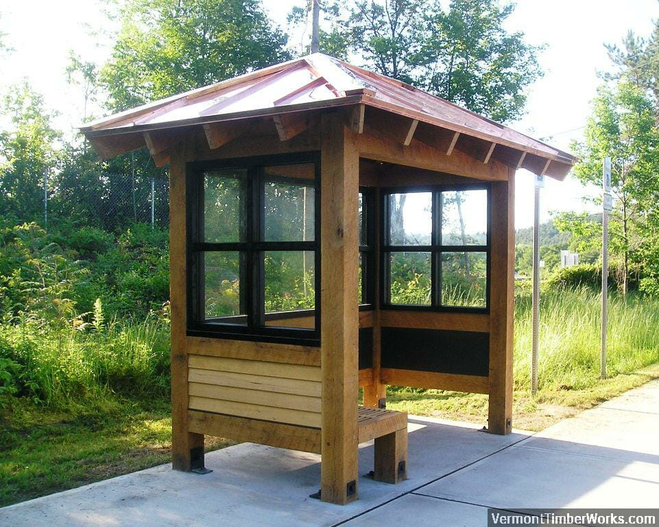 Timber Frame Bus Shelter