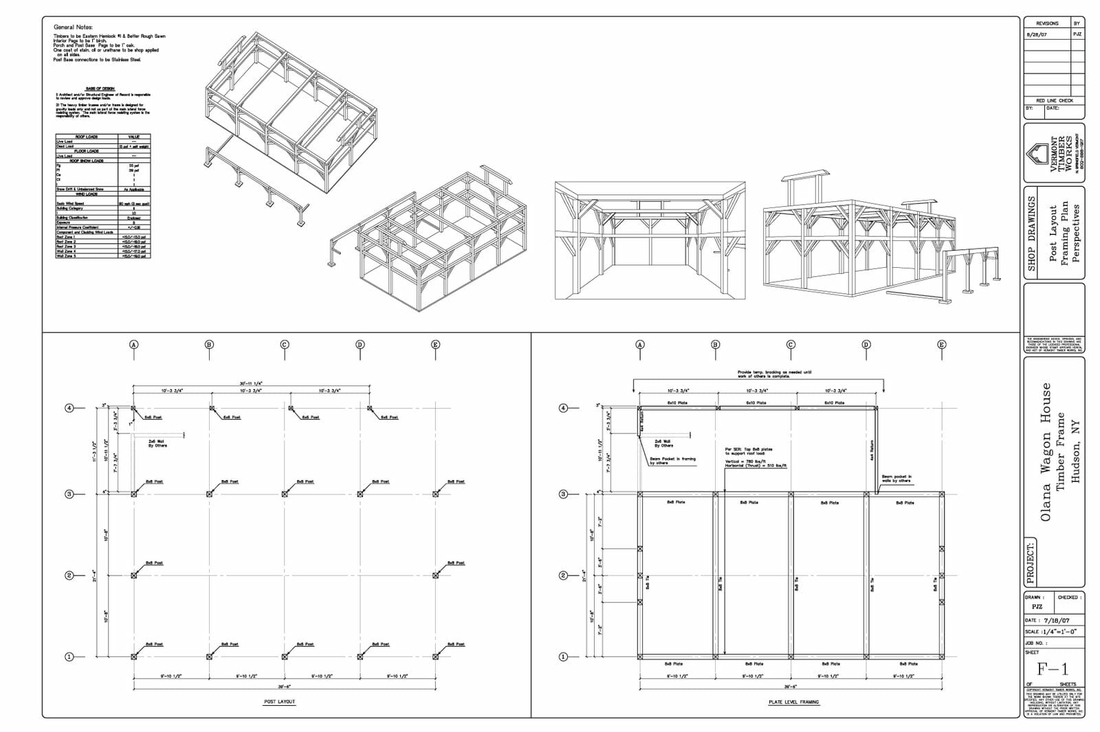 Shop Drawing / Olana Wagon House