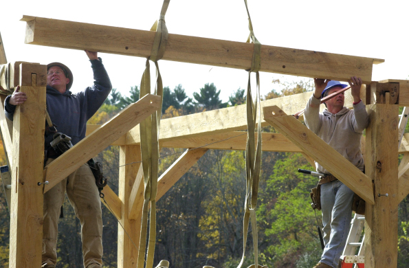 Raising by Vermont Timber Works