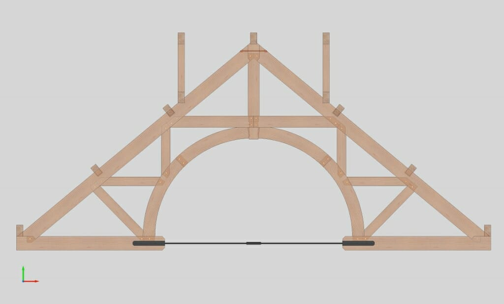 Arched Timber Truss for Hamanasi