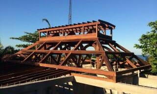 Timber Frame Restaurant in Belize