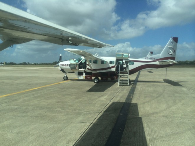 Arriving in Belize via Maya Air