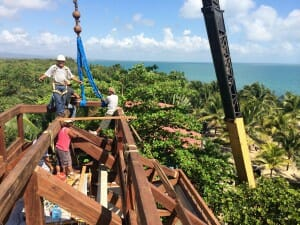 Erecting A Timber Frame In Belize