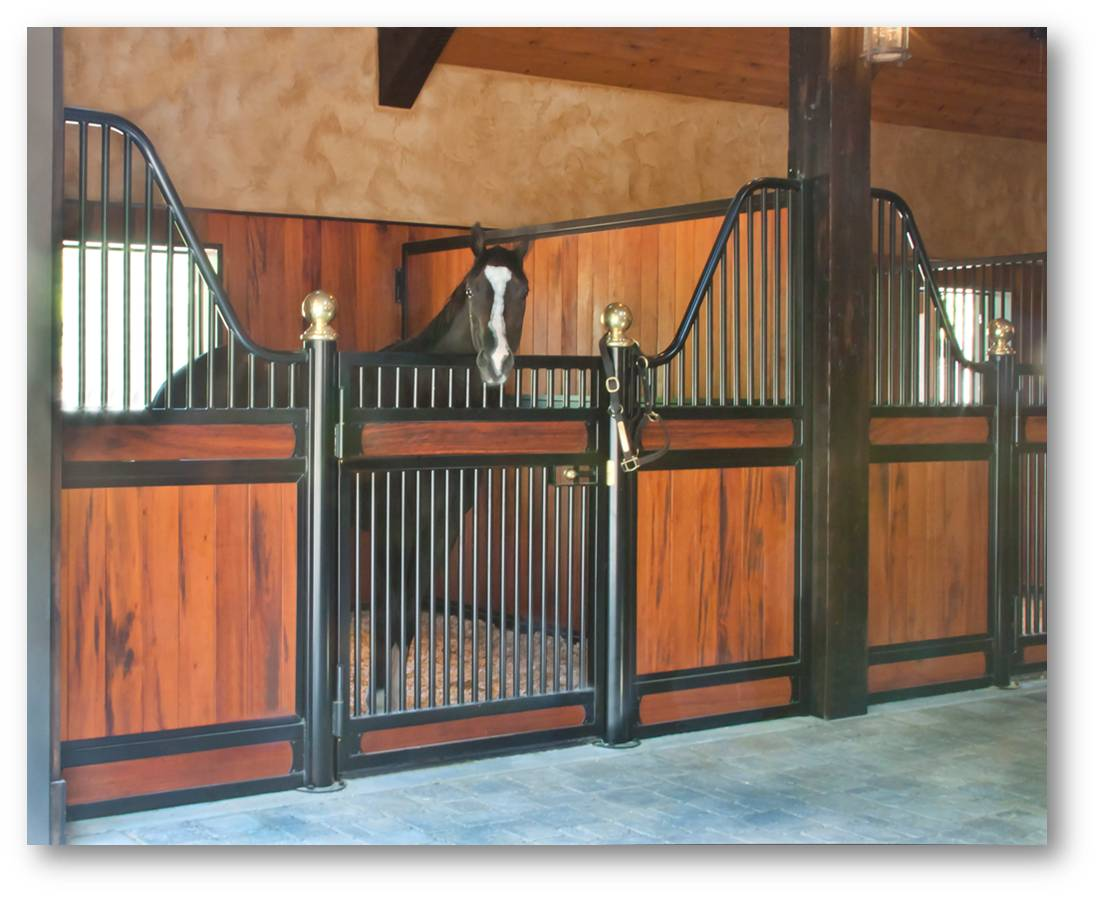 Beautiful timber frame horse barn with high end finishes for Horse barn materials