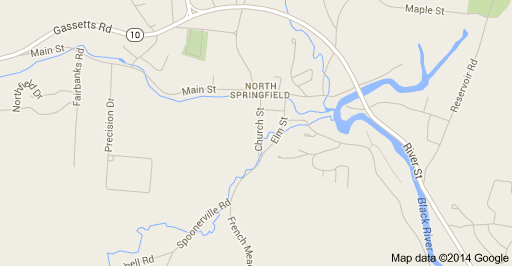 Google Map View of North Springfield, VT