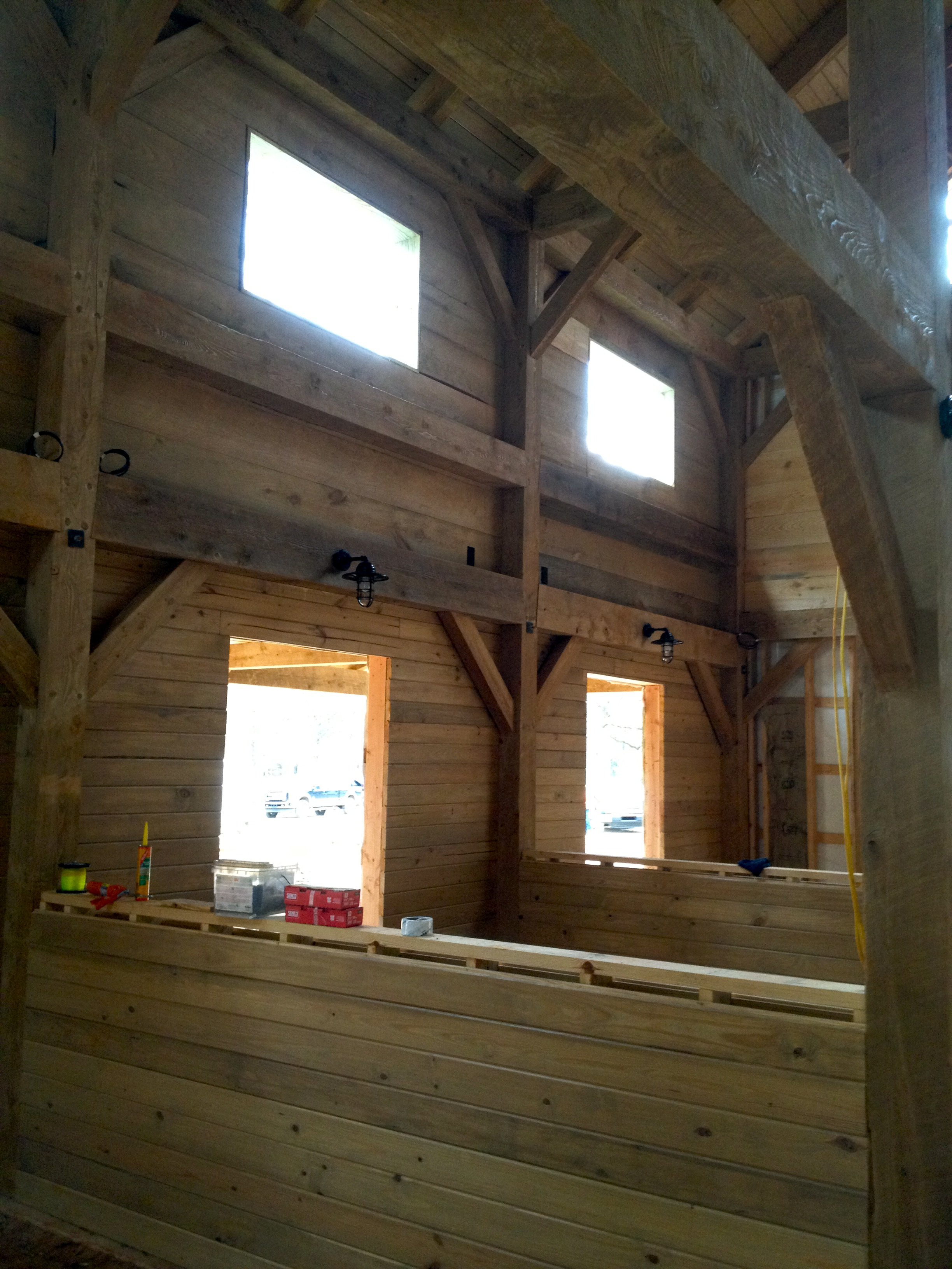 Horse Barn Framing Vermont Timber Works Vermont Timber Works