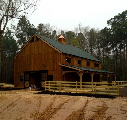 4 stall timber frame horse barn for Horse barn materials