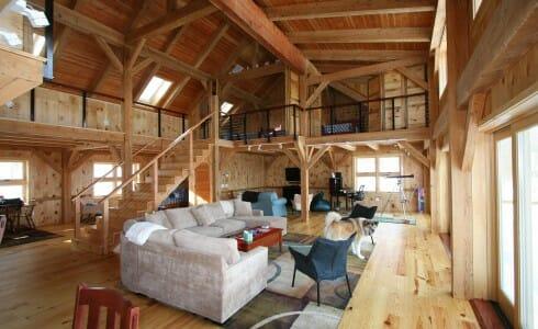 Mortise Amp Tenon Joined Barn Timber Frame