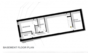 Plan view of basement