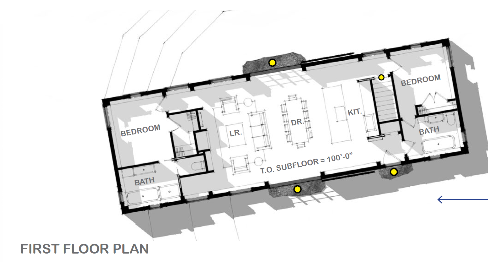 Plan view of first floor