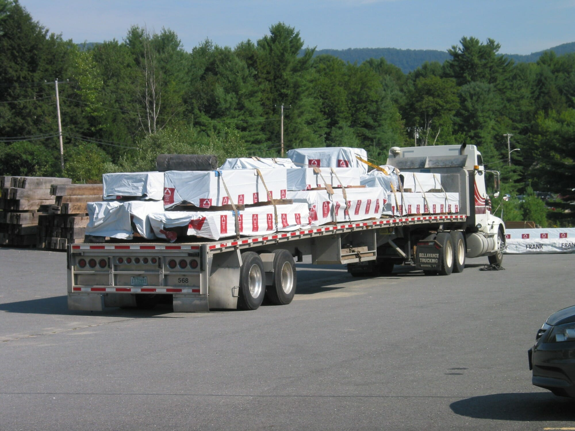 loaded tractor trailer