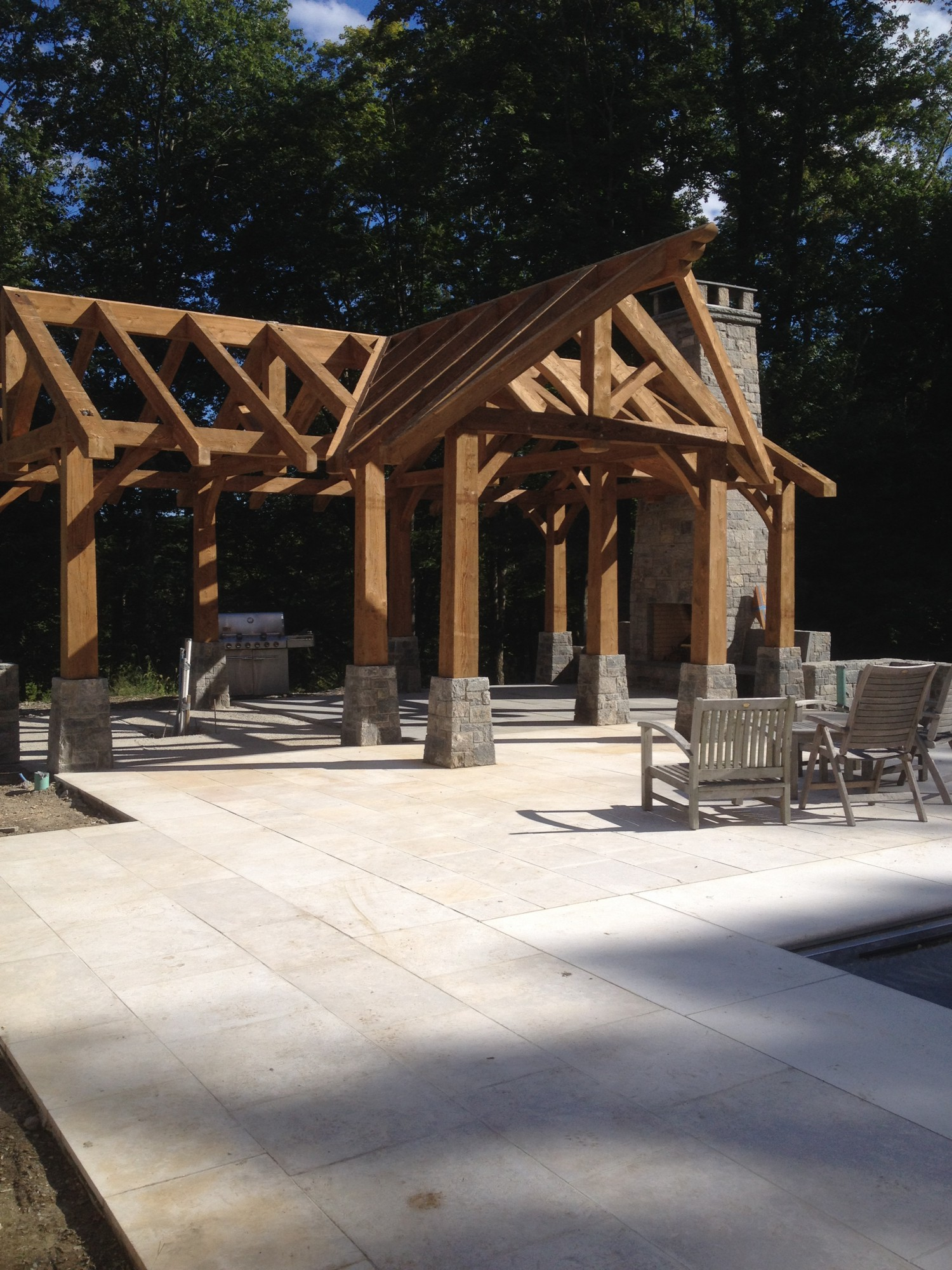 Pool Timber Frames