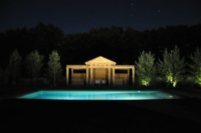 Pergola at night
