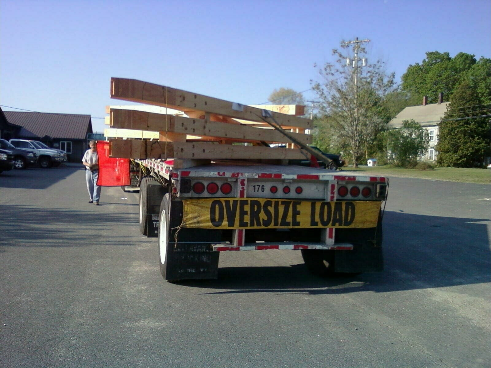 Oversize truck load