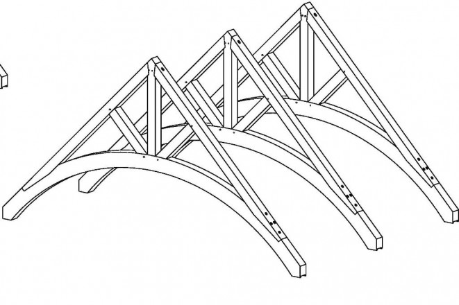 Cool timber trusses for Truss designs for homes