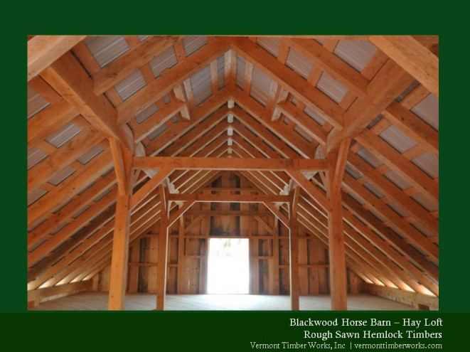 Hay loft with roofing