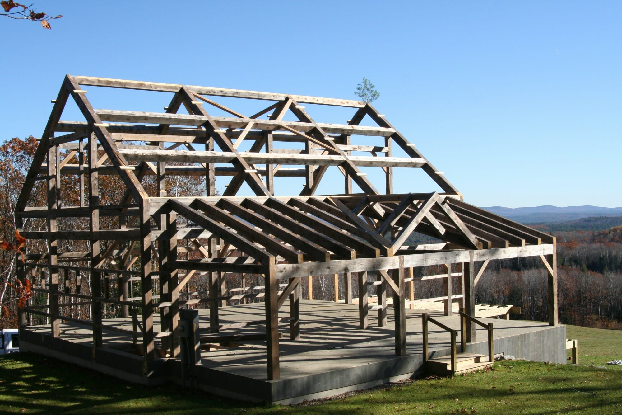 Topping out a timber frame tradition for Metal frame barn