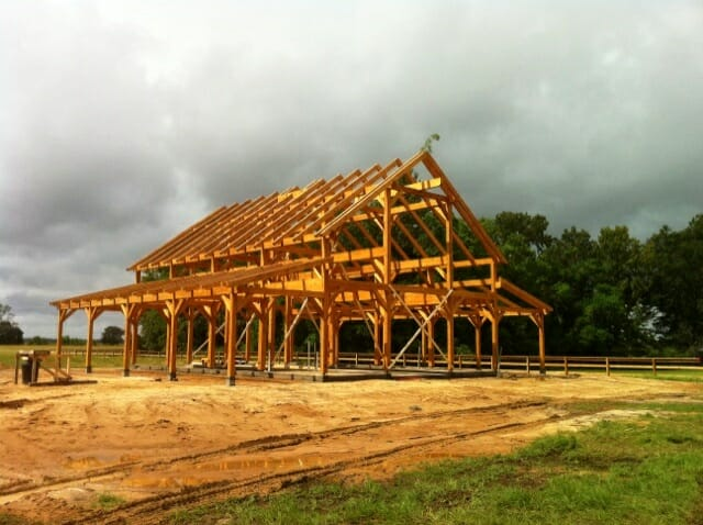 Timber Frame Raising DONE