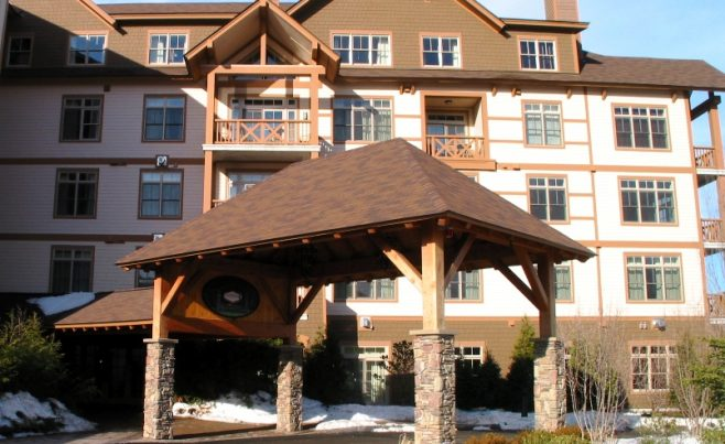 Porte Cochere for Founder's Lodge at Stratton Mountain