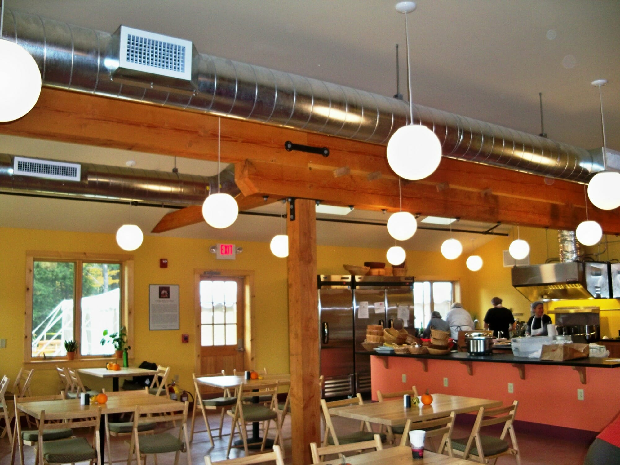 Timber frame cafeteria