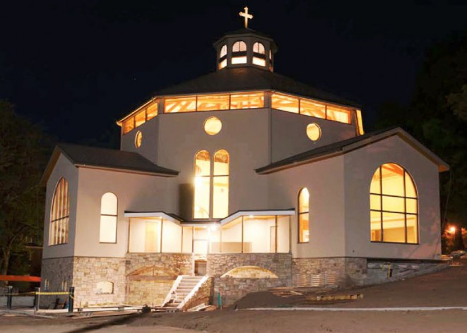 View of chapel at night