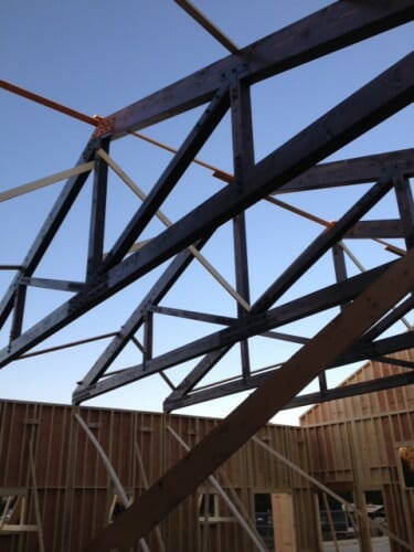 Installing the King Trusses