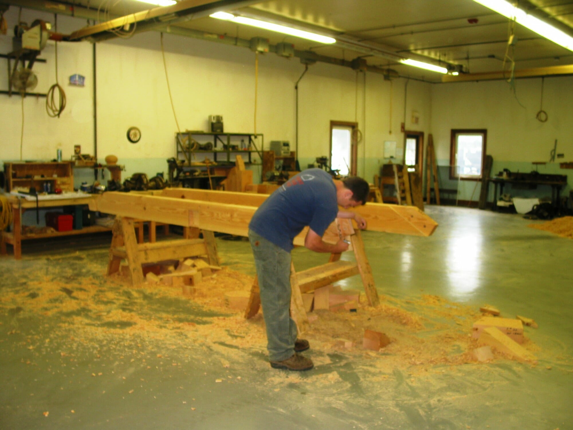 Timber framing hand fabricated