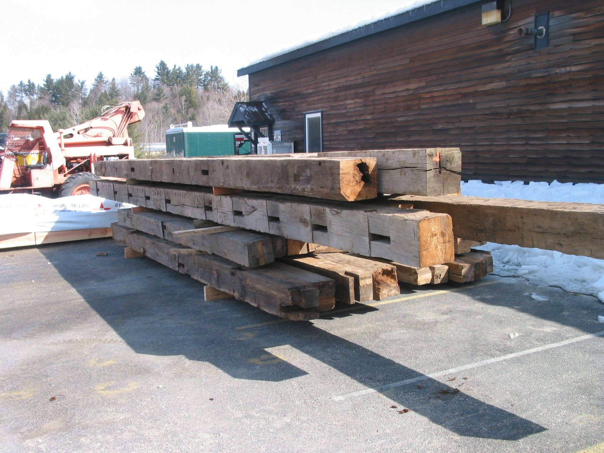 Timber Frame Project Start to Finish: Reclaimed Oak Timbers