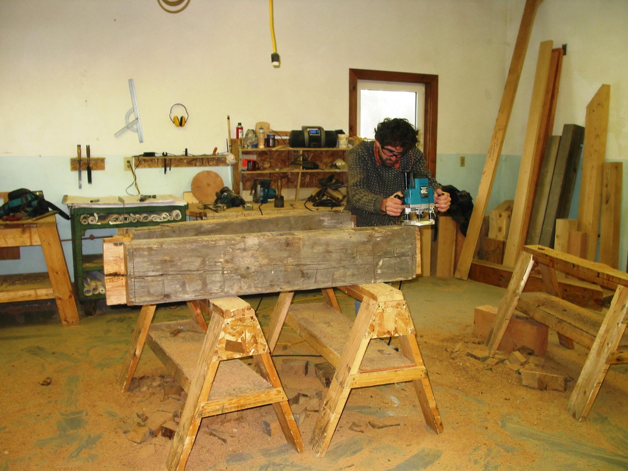 fabrication-reclaimed-white-oak-timber