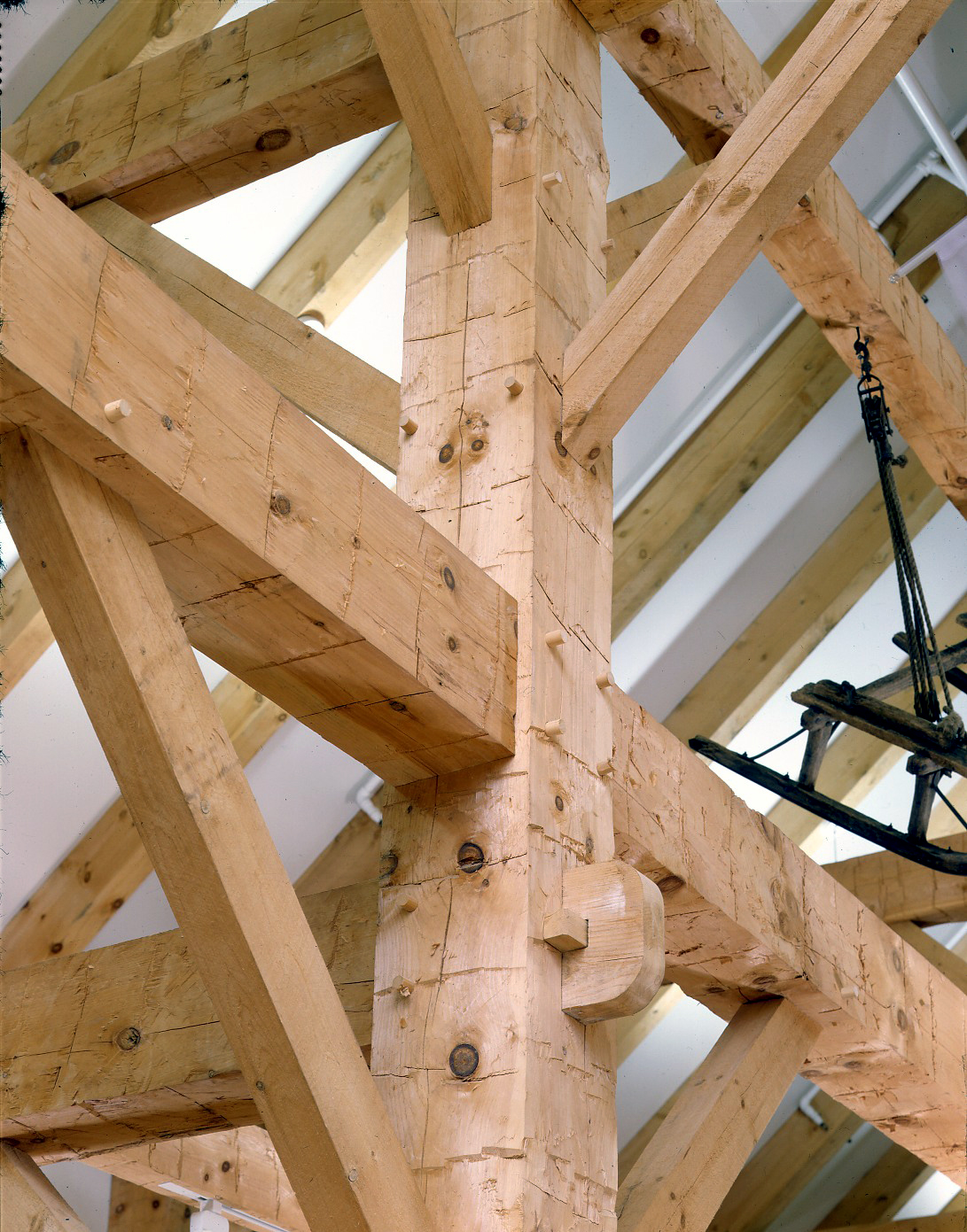 Joinery on timber frame