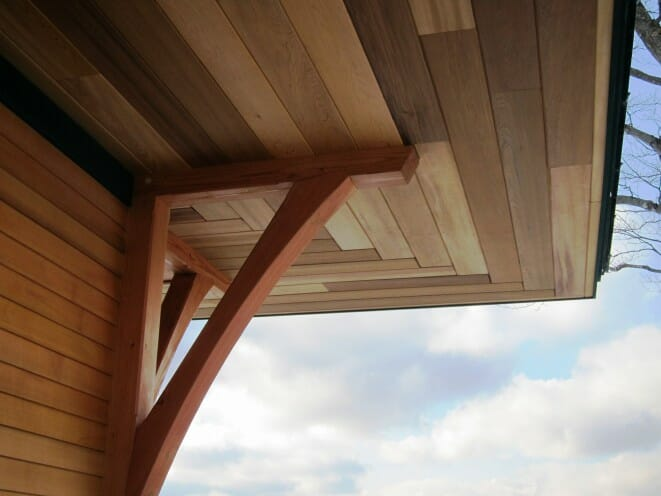 Timber Bracket roof overhang
