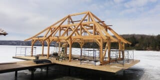 Timber Frame Project Start to Finish: Boat House