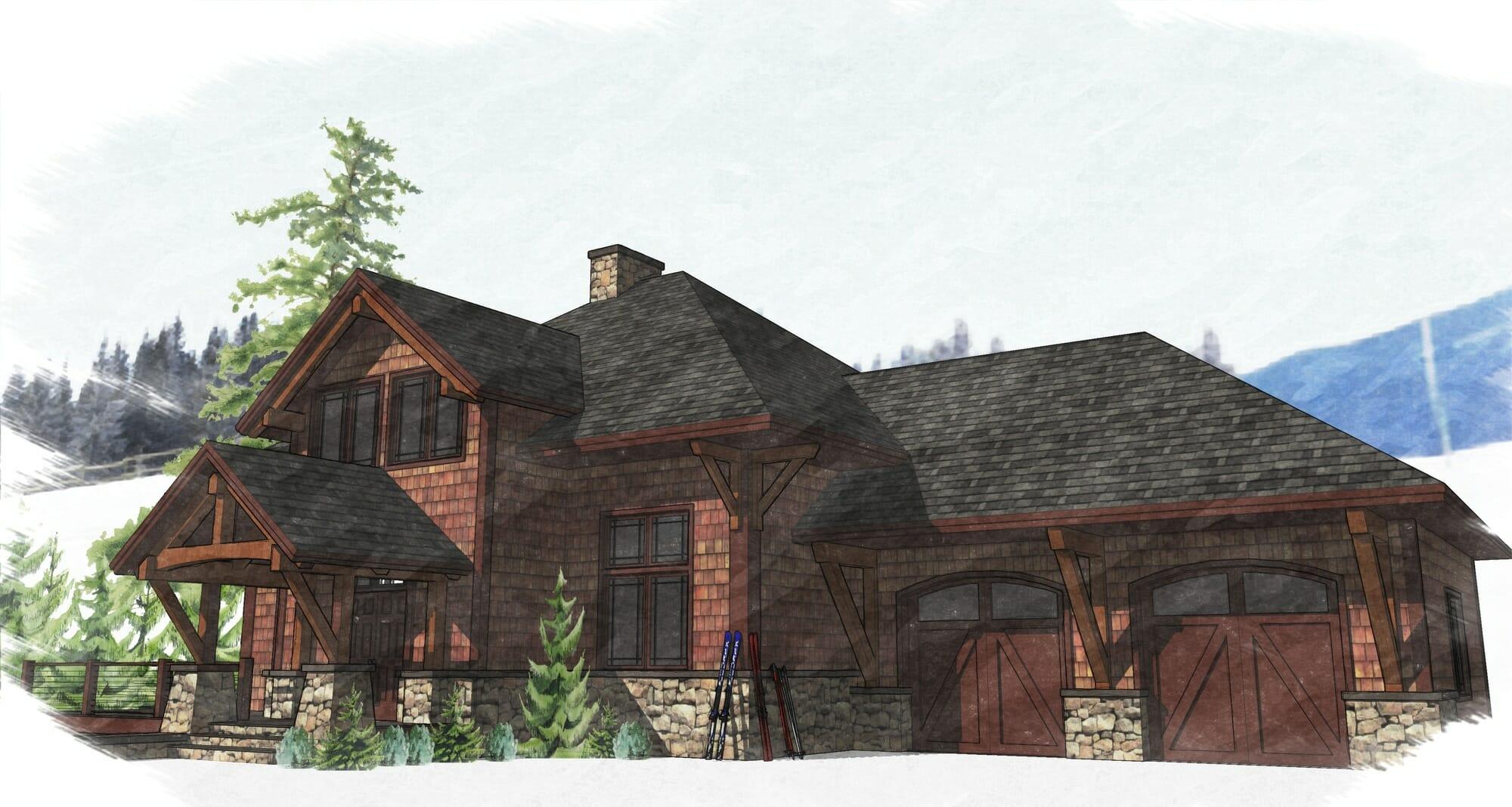 Bonin Architect Timber Frame Home Design
