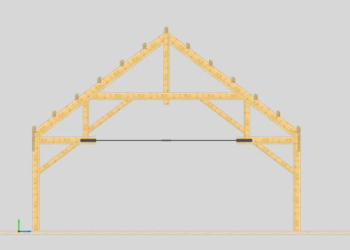 Timber truss designs scissor king queen hammer girder for Scissor truss design