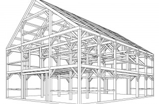 Post Beam Barn Traditional Joinery