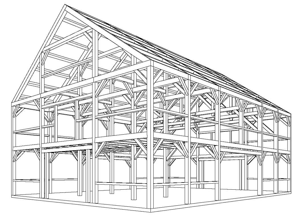 Pin big barn plans on pinterest for Large barn plans