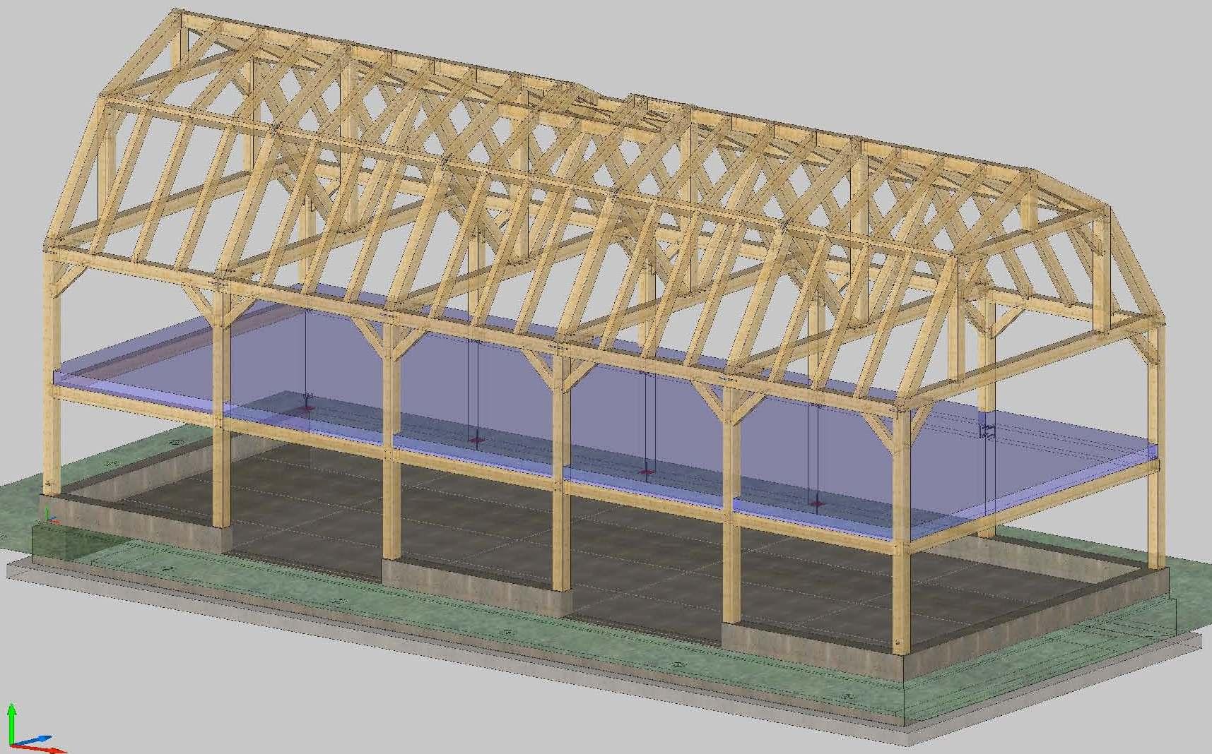 Gambrel Barn Frame Post Amp Beam Construction
