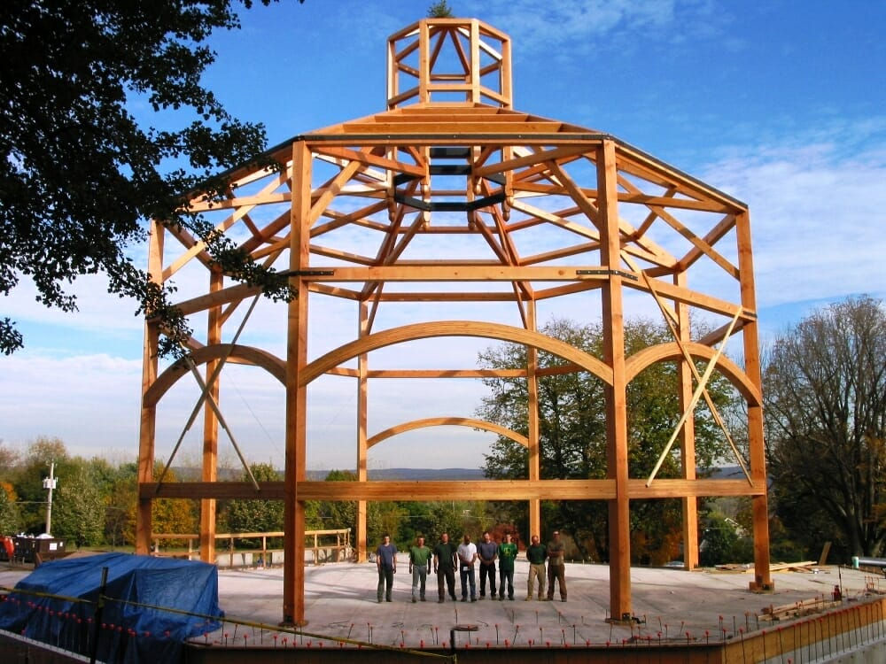 Timber Frame Chapel   60\' Octagon Frame in CT