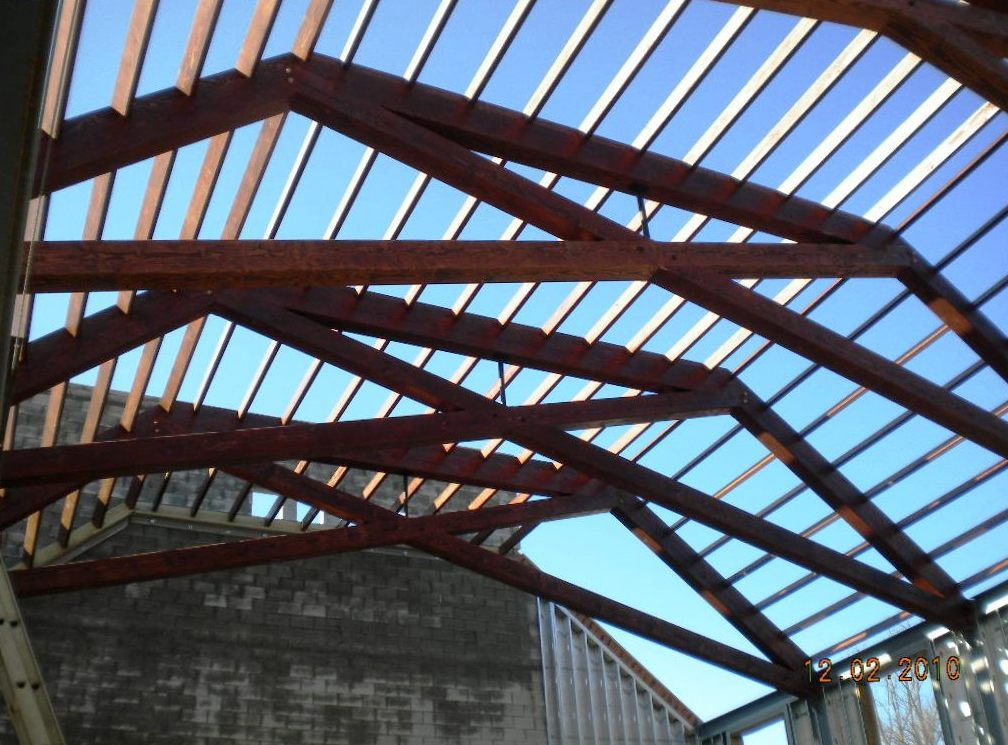 Modified scissor trusses timber design and construction for Timber trusses for sale