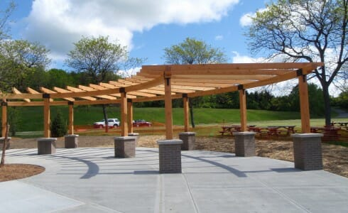 Curved Timber Frame Pergola
