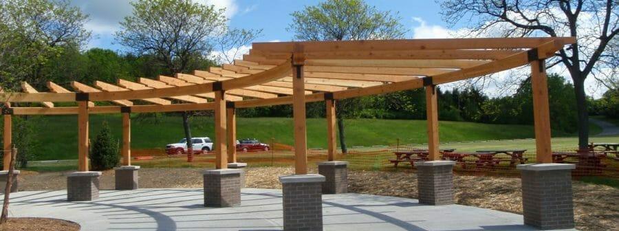 Curved Timber Frame Pergola
