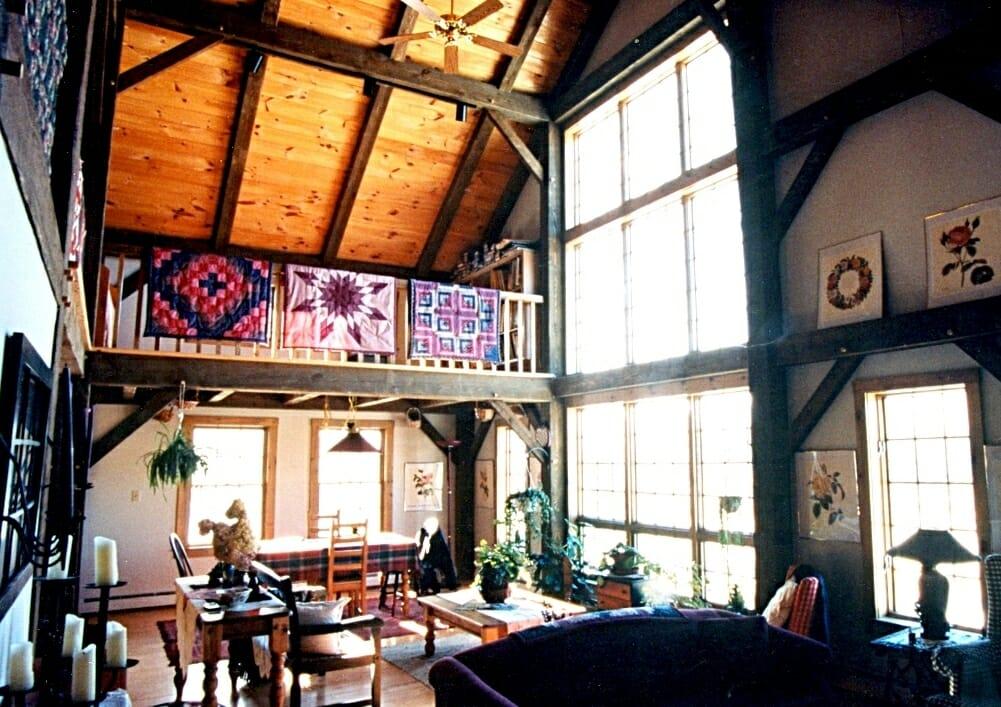 Saltbox Timber Frame Home