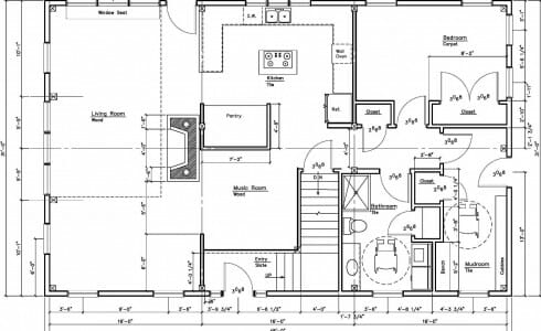 Zimmerman residence barn style home douglas fir timber for Zimmerman house floor plan