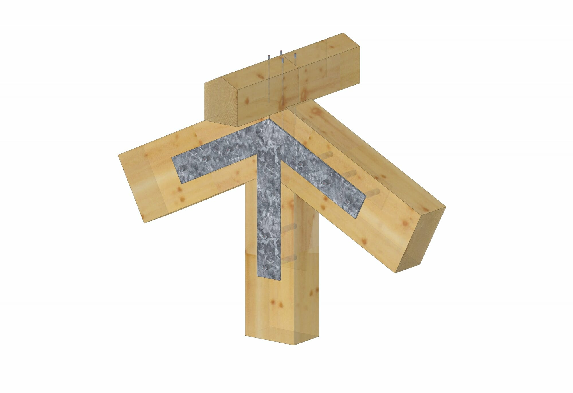 Steel Connections for Timber Frames | Steel Gusset Plates