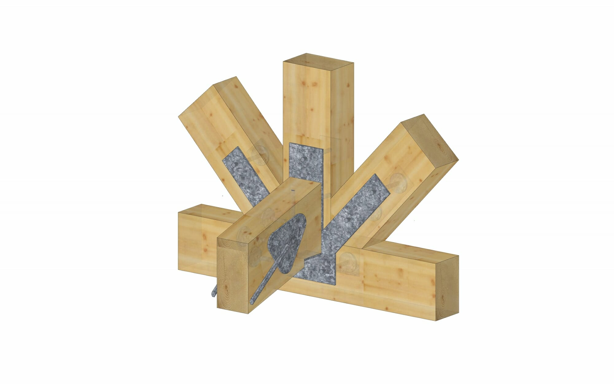 Steel Connections for Timber Frames